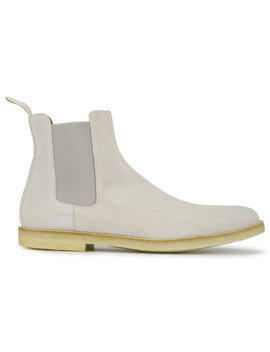 Classic Grey Suede Chelsea Boots by Common Projects