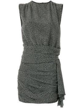 Polka Dot Gathered Shift Dress by Saint Laurent