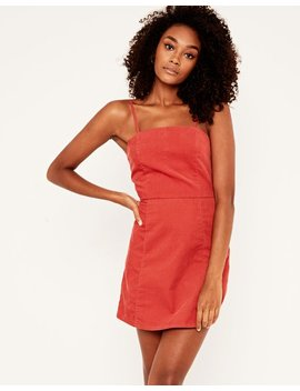 Cord Mini Dress by Glassons