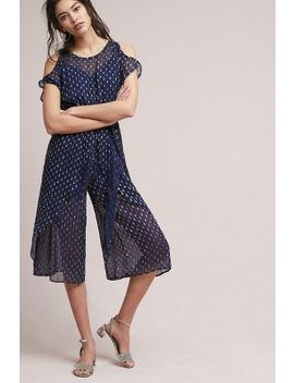 Dobby Dot Tie Front Petite Jumpsuit by Plenty By Tracy Reese