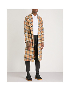 Heritage Check Wool Trench Coat by Burberry