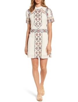 Ginger Embroidered Shift Dress by Kas New York