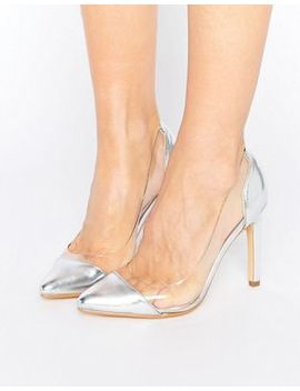 Truffle Collection Clear Upper Heel Shoe by Shoes