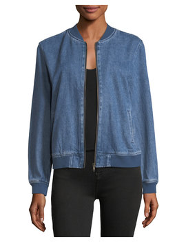 Dorla Embroidered Denim Bomber Jacket by Velvet Heart