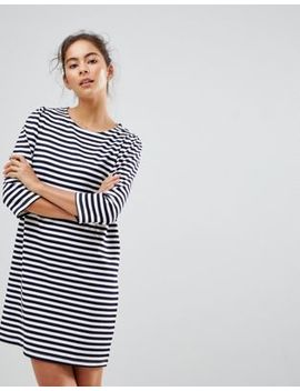 New Look 3/4 Puff Sleeve Stripe Tunic by New Look