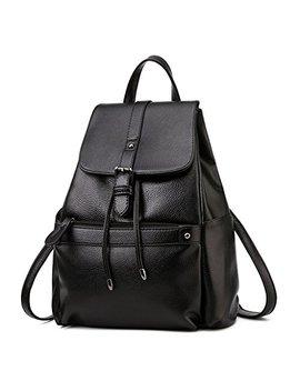 Bobilike Women Leather Backpack Shoulder Bag Casual School Travel Daypack Purse by Bobilike