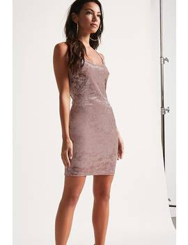 Crushed Velvet Glitter Dress by Forever 21