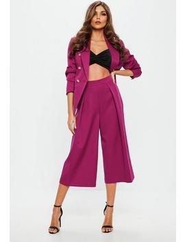 Lila Bundfalten Culottes by Missguided