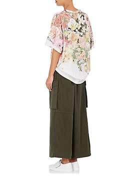 Floral Cotton Jersey Oversized T Shirt by Mm6 Maison Margiela