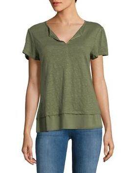 layered-short-sleeve-tee by sanctuary
