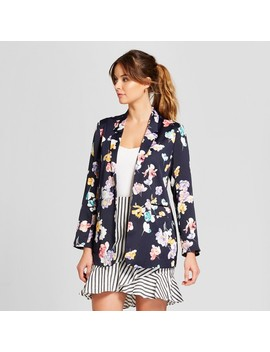 Women's Floral Blazer   A New Day™ Navy by A New Day™