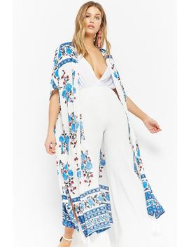 Floral Open Front Duster by Forever 21