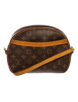 Pre Owned   Louis Vuitton Monogram Canvas Leather Blois Crossbody Bag by Louis Vuitton