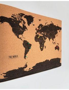 Tablón De Corcho Con El Mapa Del Mundo De Gift Republic by Asos