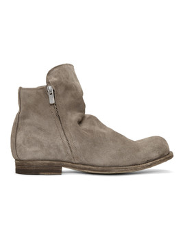 Tan Suede Bubble 54 Boots by Officine Creative