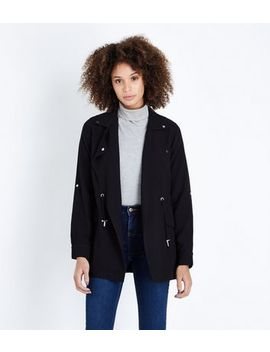 Black Waterfall Shacket by New Look