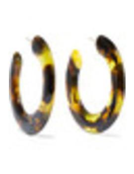 Kennedy Tortoiseshell Resin Hoop Earrings by Cult Gaia