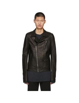 Black Leather Stooges Jacket by Rick Owens