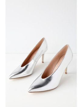 Rian Silver Pointed Toe Pumps by Chinese Laundry