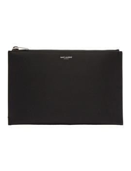 Black Mini Tablet Holder by Saint Laurent