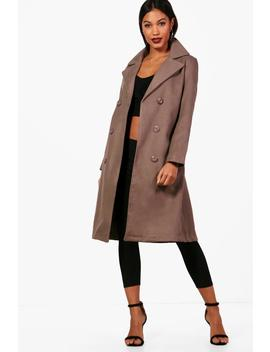 Abigail Double Breasted Coat by Boohoo