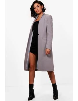 Maya Tailored Wool Look Coat by Boohoo