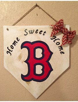 Boston Red Sox Sign, Home Plate Sign, Boston Red Sox Decor, Red Sox Front Door Sign, Boston Red Sox Home Sweet Home, Boston Red Sox by Etsy