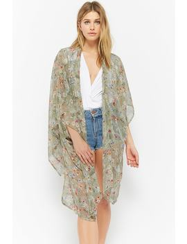 Floral Chiffon Kimono by Forever 21