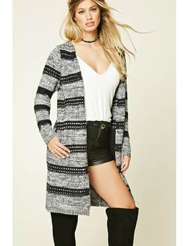 Longline Marled Knit Cardigan by F21 Contemporary