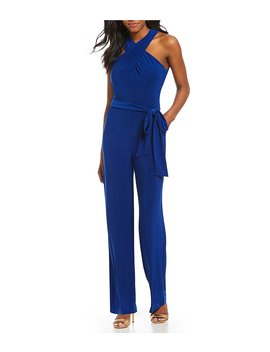 Halter Jersey Jumpsuit by Tahari Asl