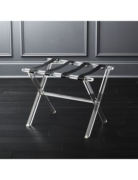 Acrylic And Leather Luggage Rack by Crate&Barrel