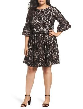 Fit & Flare Lace Dress by Eliza J