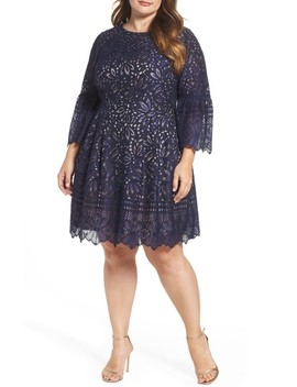 Lace Bell Sleeve Fit & Flare Dress by Eliza J