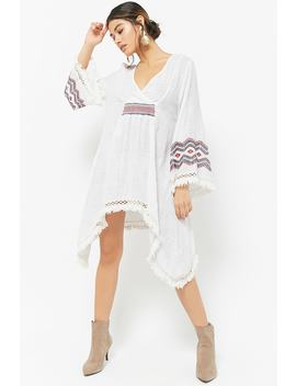 Embroidered Surplice Tunic by Forever 21