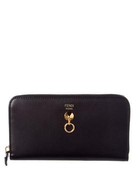 Fendi Dotcom Leather Zip Around Wallet by Fendi