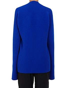 Rib Knit Crop Sweater by Haider Ackermann