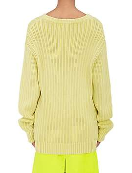 Rib Knit Cotton Sweater by Sies Marjan