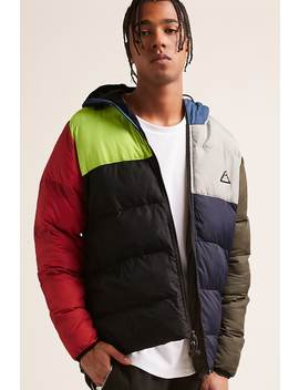 All Good Colorblock Puffer Jacket by Forever 21