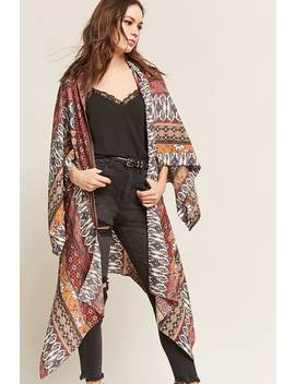 Asymmetrical Ornate Open Front Jacket by Forever 21