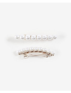 Pearlized Barrettes by Ann Taylor