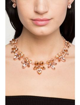 Rhinestone Flora Necklace by A'gaci