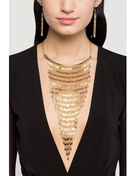 Vintage Link Waterfall Fringe Necklace by A'gaci
