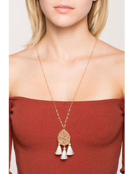 Tear Tassel Pendant Long Necklace by A'gaci