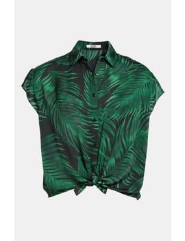 Palm Frond Print Shirt by Bb Dakota