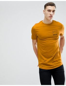 River Island T Shirt With Motif In Mustard by River Island