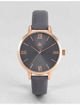 asos-charcoal-and-rose-gold-watch by asos-collection