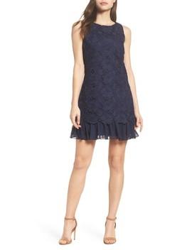 Lace Ruffle Hem Sheath Dress by Eliza J