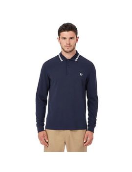 Fred Perry   Navy Embroidered Polo Shirt by Fred Perry