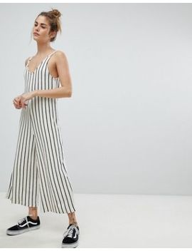 Pull&Bear Stripe Cami Jumpsuit by Pull&Bear