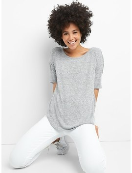 Softspun Elbow Length Sleeve Round Neck T Shirt by Gap